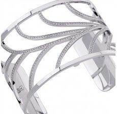 Bracelet Les Georgettes Courbe 40 mm argent