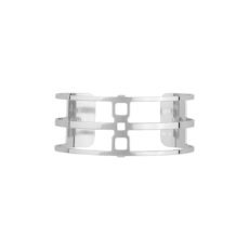 Bracelet Les Georgettes 25 mm RAYURES ARGENT