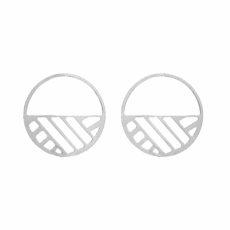 Boucles d'oreilles Ruban 43 mm argent