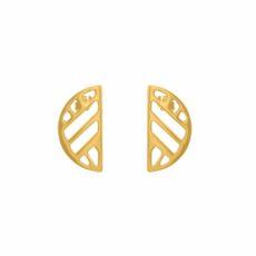 Boucles d'oreilles Les Georgettes Ruban 30 mm doré