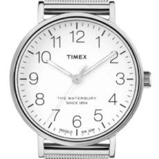 Montre Timex The Waterbury Bracelet Milanais Argenté Homme